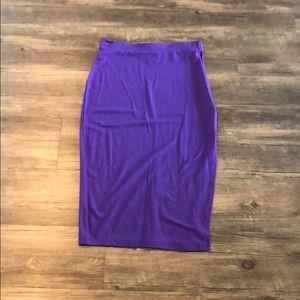 ASOS purple pencil skirt with side slit sz 0